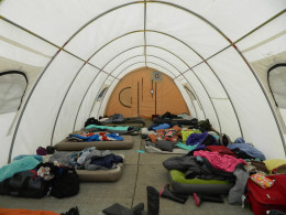This is one of the girls tents the night before camp. When camp begins there will be twenty more girls in this tent.