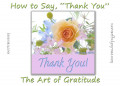 "How to Say, ""Thank You"" 