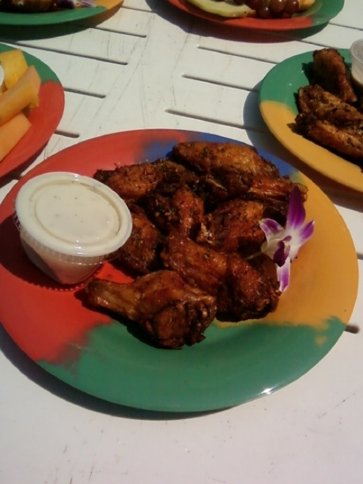 Jerk Chicken Wings.  The food here just melts in your mouth!