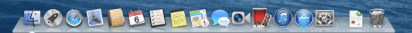 If your dock looks something like this, you're not running Yosemite.
