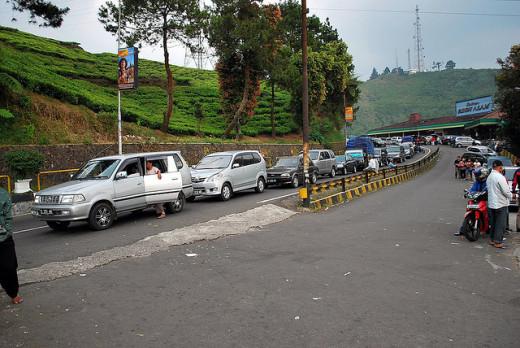 Heavy Holiday Traffic Towards Puncak