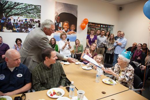 Edythe Kirchmaier's 105th Birthday Celebration in 2013.