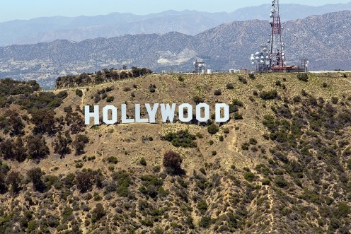 """The famous """"Hollywood"""" sign"""