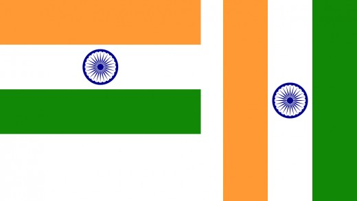 Correct horizontal and vertical display of the Indian flag