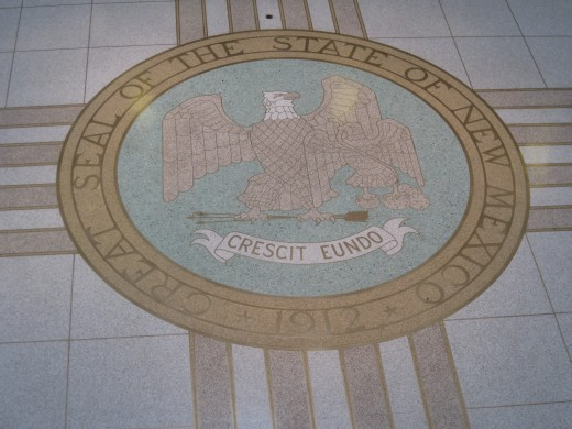 State Seal on the second floor of the New Mexico State Capitol Building.