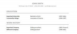 One example of how to condense education and work history on your resume.