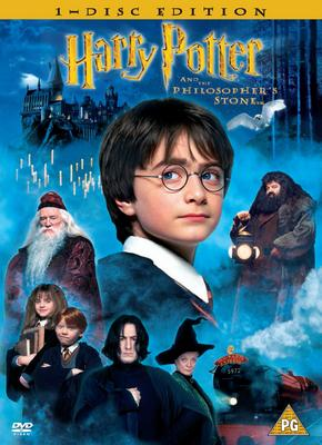 """DVD cover for """"Harry Potter And The Philosopher's Stone"""""""