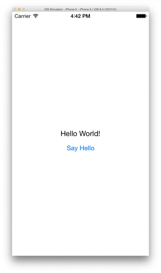 What your very first iOS App does!