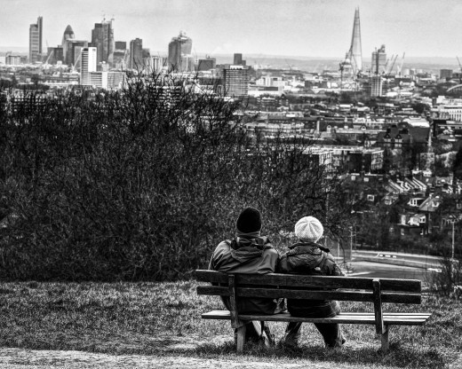 Looking out over London. Learn how to appreciate the simple, quiet, happy moments in your life.