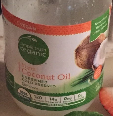 Look for virgin, unrefined, and cold pressed coconut oil.