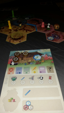 Takenoko is a rich game for its streamlined rules and fantastic art.