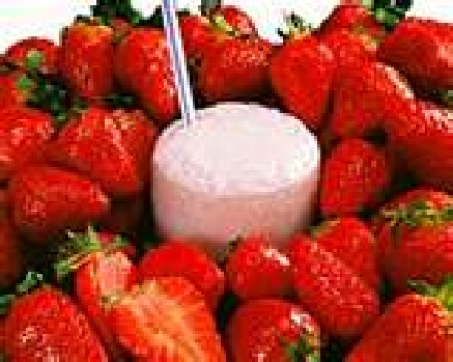 Strawberry smoothies are always on call.  Fresh or frozen, they are delicious in taste and colorful too.
