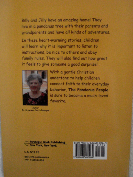 The Back Cover of 'The Pandanus People'
