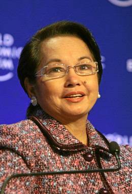 The Former 14th President of the Philippines, who was arrested because of corruption.