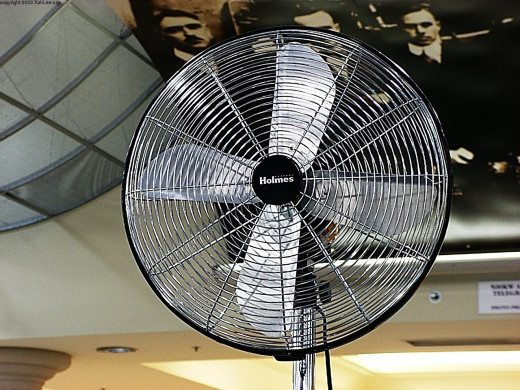 These kinds of electric fans are usually good. It moves the air well!