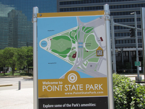 Sign at entrance to Point State Park