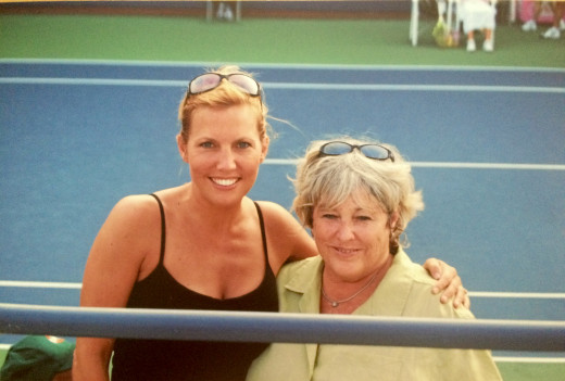 My mom, Patti, and I were court side at the U.S. Open in 2007.