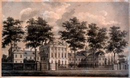 Old Drawing of Pennsylvania Hospital.
