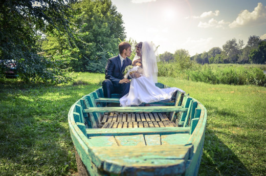 Not exactly a party boat pictured, but you could plan a boat party as a reception venue after the cheap wedding. Photo Courtesy of pixabay.com