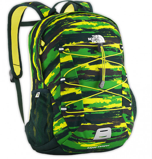 Boys' camouflage backpack.
