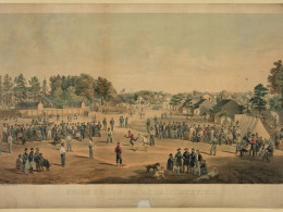 Union Prisoner engaged in a game of New York rules Baseball. Salisbury, NC. 1863