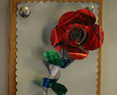 how to make aluminum can art