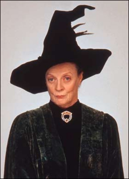 Professor McGonagall, played by Maggie Smith