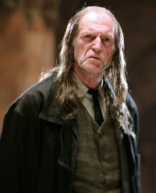 Argus Filch, played by David Bradley