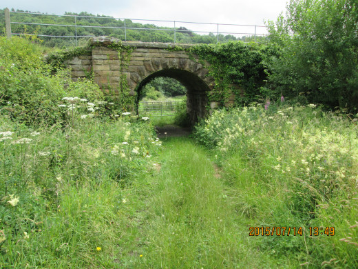 Cattle creep or under-pass on the Deviation route of the W&PR - these enabled livestock to be driven to their grazing ground without the need to cross the railway on the level