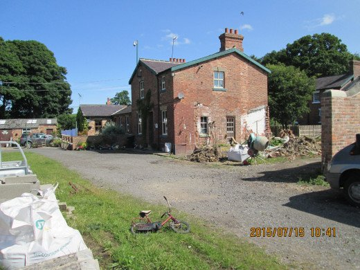 Masham Station (near Ripon) is being geared up as a camping and caravan site, buildings being revamped and recycled. The goods shed is a cafe and camp centre. This is the station house, with signs of former buildings annexed