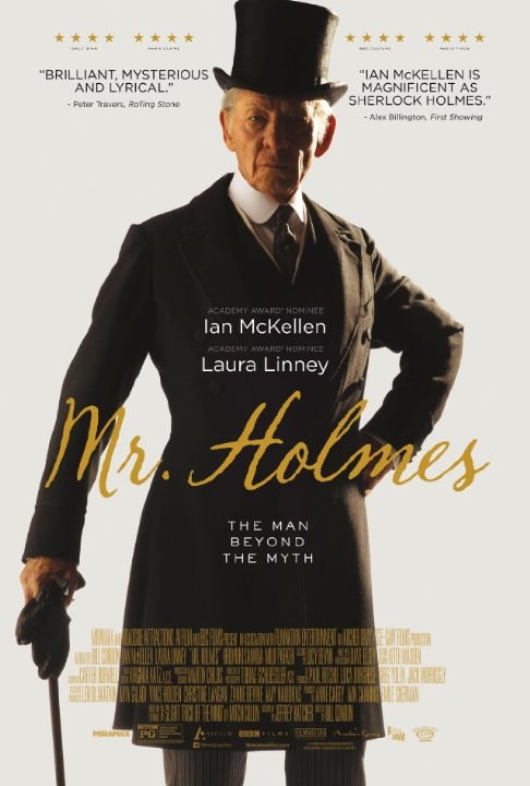 Poster for Mr. Holmes starring Ian McKellen
