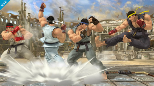 Four variations of Ryu, his colors are based on his alternate colors from Street Fighter II.