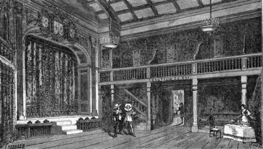 "Interior of the Hotel De Bourgogne (opening scene from ""Cyrano de Bergerac"")"