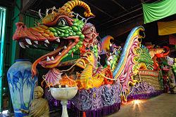 Leviathan Mardi Gras float