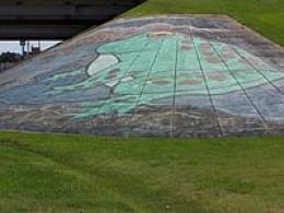 Frog Mural in Rayne