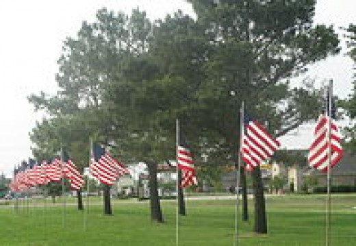 Flags fly in Winnsboro