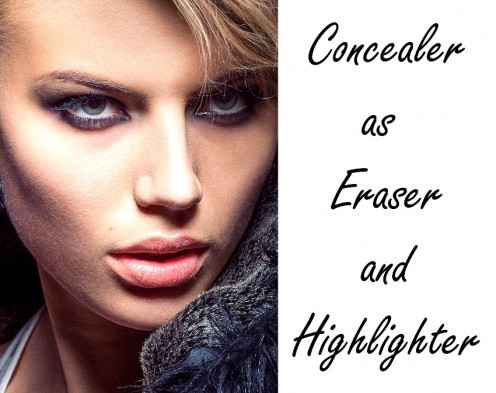 How to Apply Concealer as Eraser and Highlighter