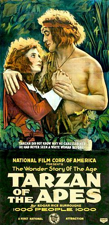 Tarzan of the Apes promotional poster