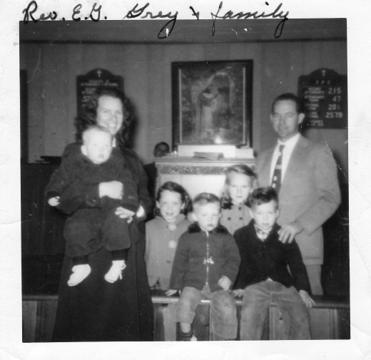 In this photo, all of my brother and sisters are present.  My baby sister, Resa, would join us a few years later.