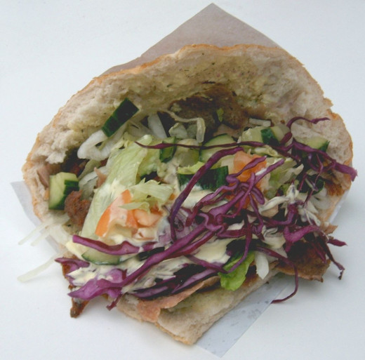 An example of a doner kebap