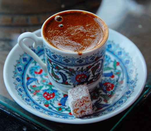 No one wants to miss a chance to have a sip of this drink. Turkish coffee is usually served with Turkish delight.
