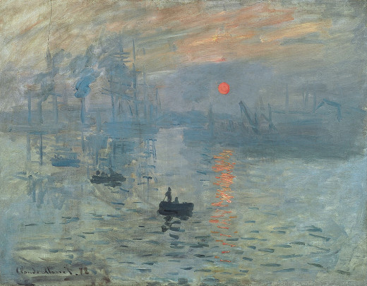 Impression, soleil levant (1872); the painting that gave its name to the style.