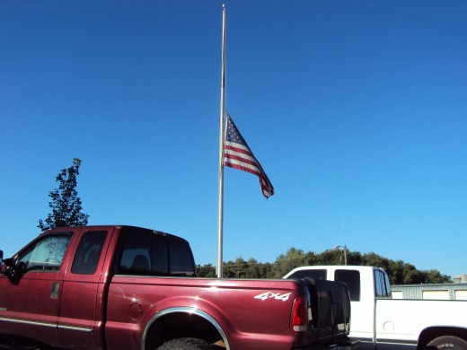 Even if the American flag only flew at half mast each day when an active member of our military services died, our flag would wave at half mast many days of the year.