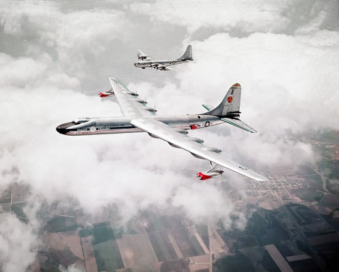 The only USA nuclear aircraft to fly was used 1955 - 1958, but other nuclear powered aircraft are in R & D in Dayton Oh and elsewhere.