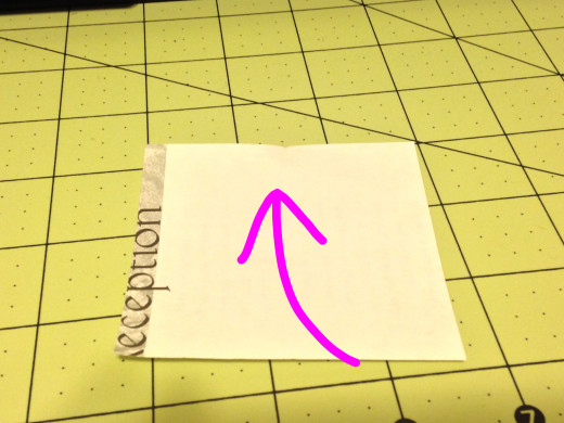 Set your square in front of you. If you have patterned paper you will want that facing the table. Fold the bottom of the paper up to the top.