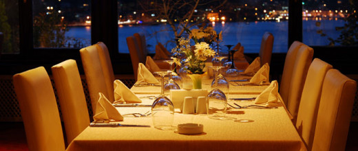 If you are the type to attend lavish dinner parties, get used to sitting at gorgeous tables such as this one.