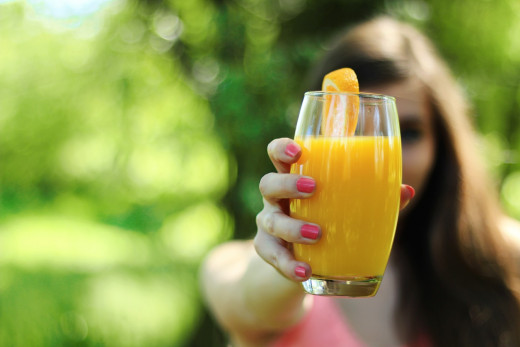 Freshly-squeezed orange juice is a perfect substitution for soda and other sugary drinks.