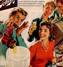 Retro vintage dinner party.
