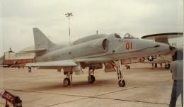 "An A-4 Skyhawk with the ""camel back"" avionics package."