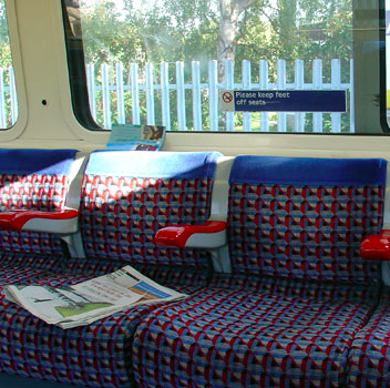 The Metro paper is often left on the seat for the next person